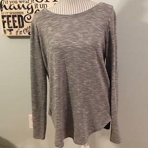Abercrombie & Fitch Grey Marbled Top with Black